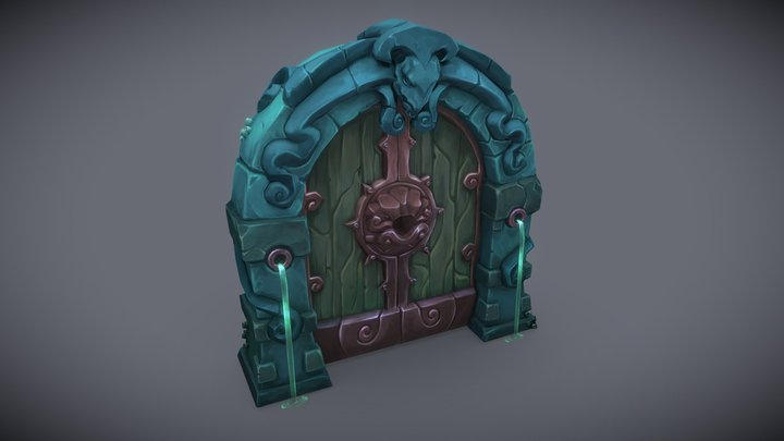 Dungeon gate 3D Model