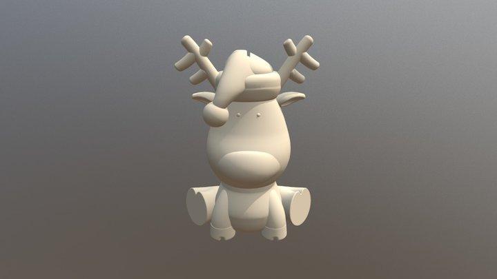 Reindeer piggy bank 3D Model
