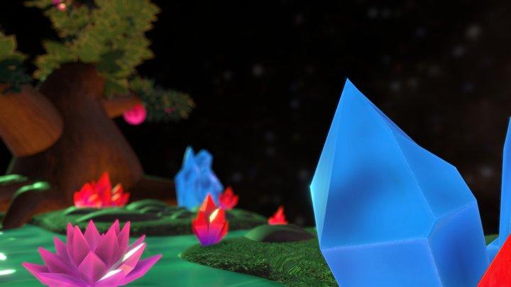 Crystal Garden Diorama 3D Model