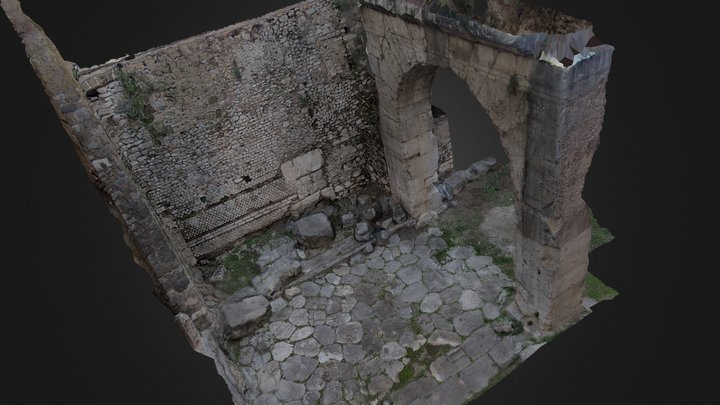 Foursided Roman Arch 3D Model