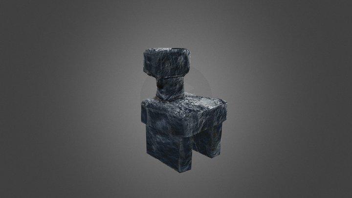 Stone Chair 3D Model