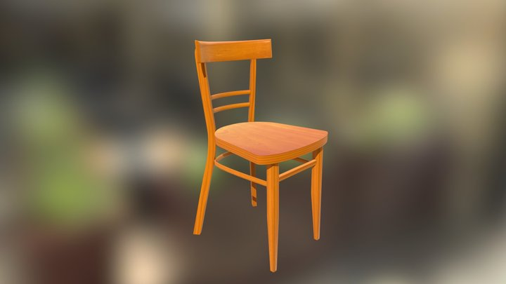 Chair Yellow 3D Model