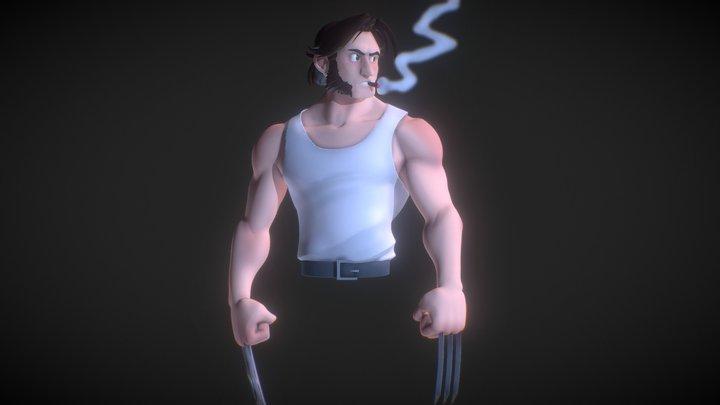 Wolverine speed sculpt (concept Ranny Draws) 3D Model