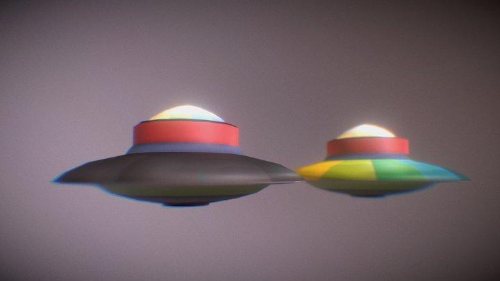 Naves OVNI 3D Model