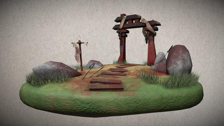 Feudal Japan Environment 3D Model