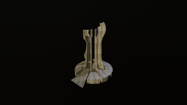 Monument in Brezovica 3D Model