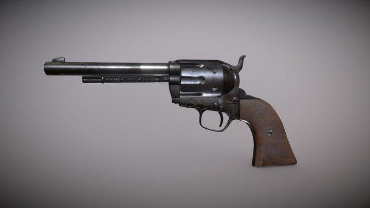 Old west Colt style revolver 3D Model