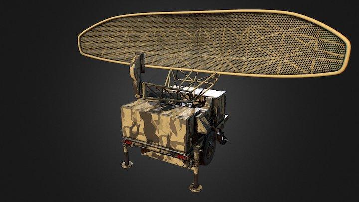 Sentinel Radar - Pulse Acquisition Radar 3D Model