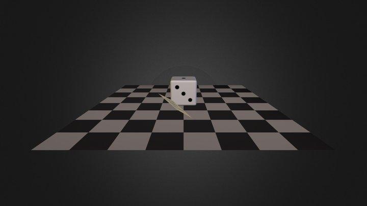 Six-Sided Die 3D Model