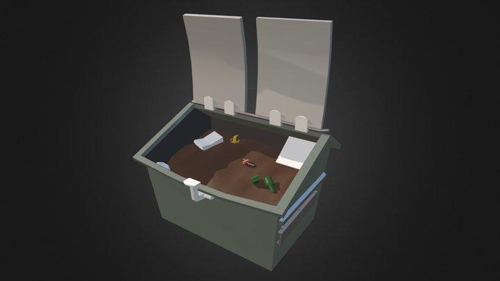 W.I.P Fortnite Dumpster 3D Model
