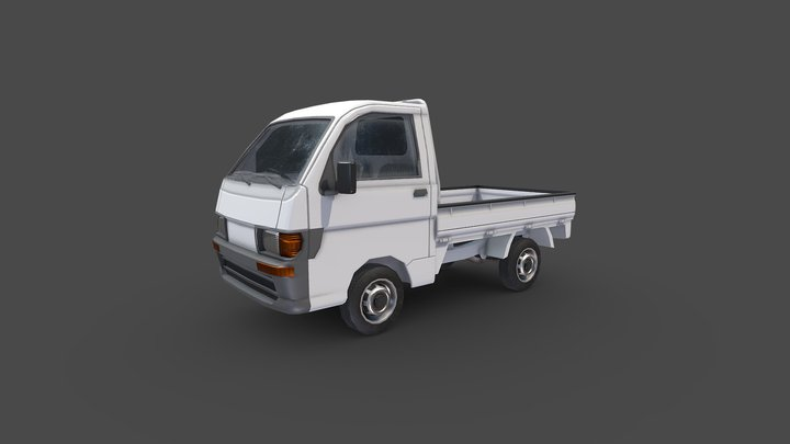 Asian Mini Truck 3D Model