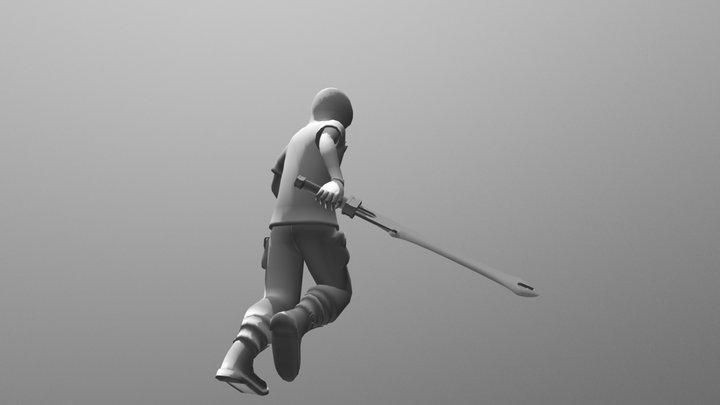 Character - Running Sword 3D Model