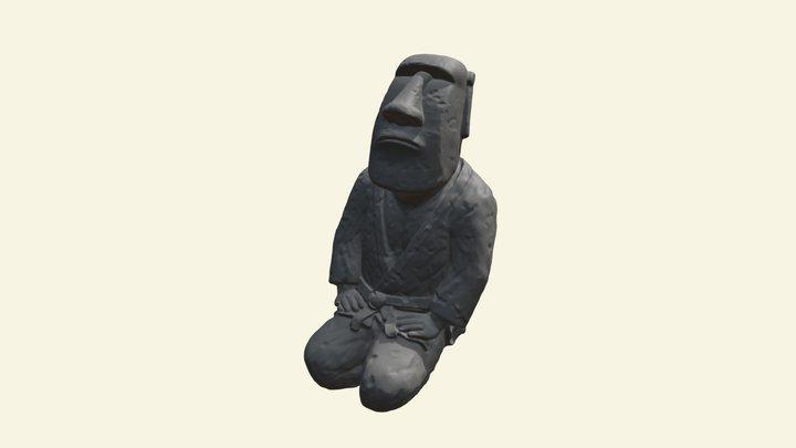 Judoka Moai 3D Model