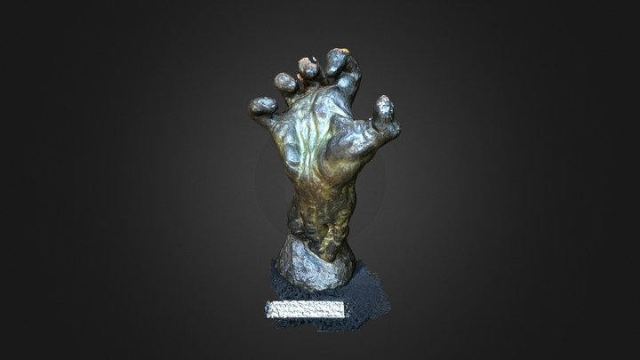 """Rodin, """"Clenched Hand"""", Fitzwilliam Museum 3D Model"""
