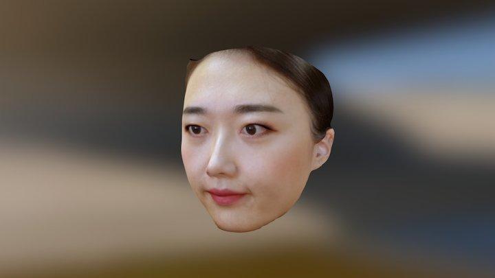 Jia with makeup 3D Model