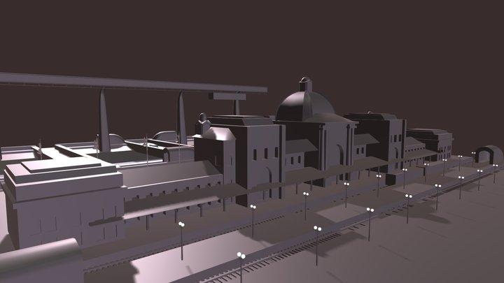 Blocking. Station. 3D Model