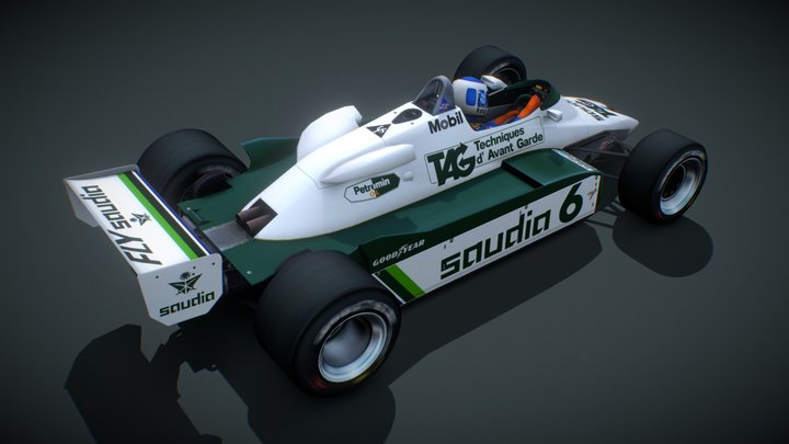 Williams FW08 / Keke Rosberg / 1982 3D Model