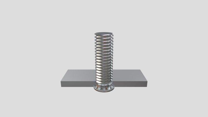 Self-clinching Stud - Einpressgewindebolzen 3D Model