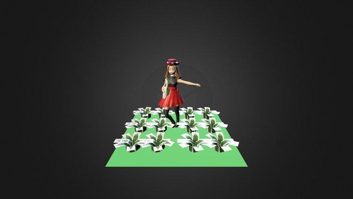 Pokemon x and y Serena 3D Model