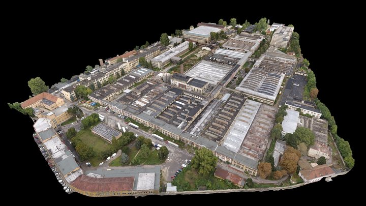 "Brownfield / Factory Complex ""Zbrojovka Brno"" 3D Model"