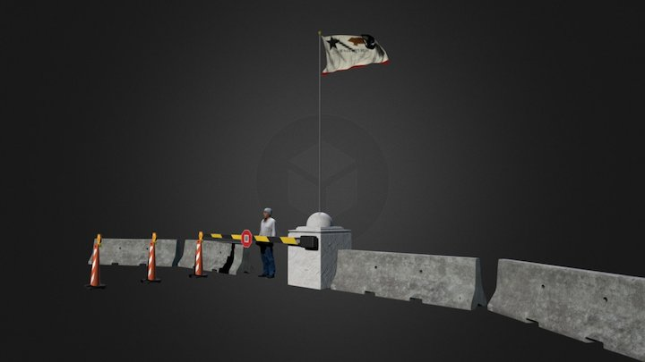 Paseo Portal Checkpoint 3D Model