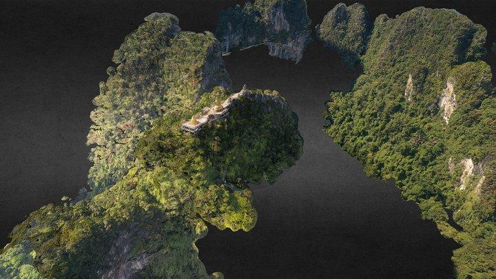Wat Tham Suea (Tiger Cave Temple) 3D Model