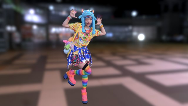 Harajuku Girl Haruka 3D Model