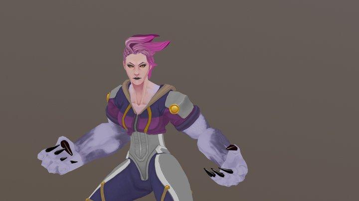 Kiara, werewolf woman (Idle) 3D Model