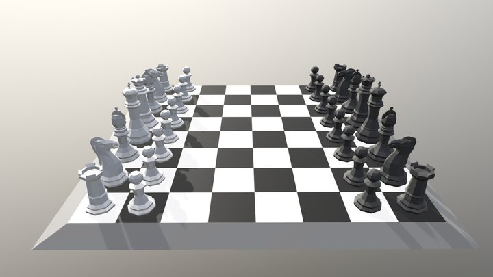 Chess Set LP 3D Model