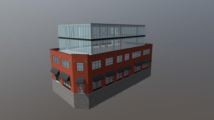 601 Bank Street - Glazed Option 3D Model