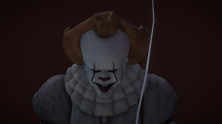 Pennywise the Dancing Clown IT 3D Model