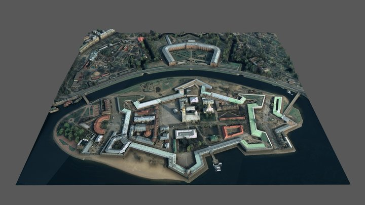 Peter and Paul Fortress 3D Model