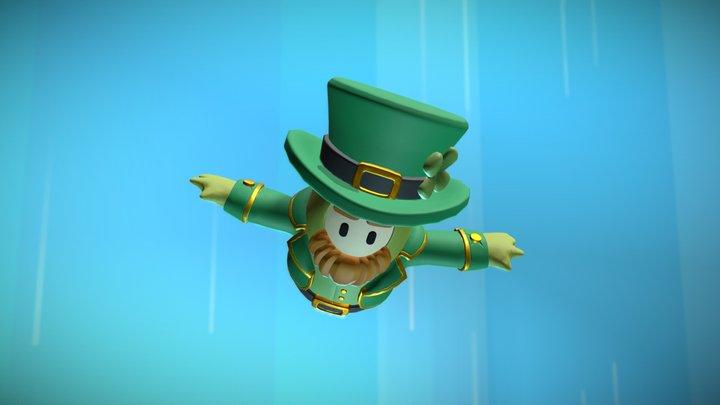 Fall Guys Costume - Leprechaun 3D Model