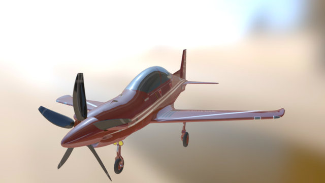 Plane Pilatus 3D Model