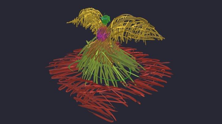 Winged Haystack 3D Model
