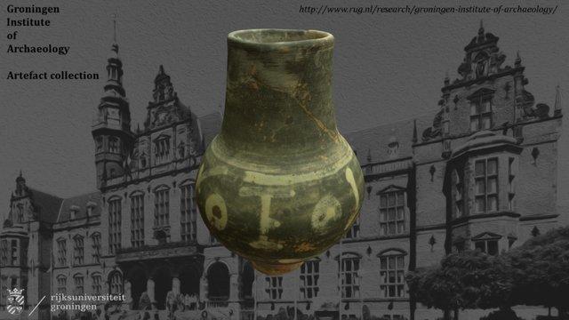 Wijnbeker Rijn-Moeselgebied, 3e-4e eeuw n. Chr. 3D Model