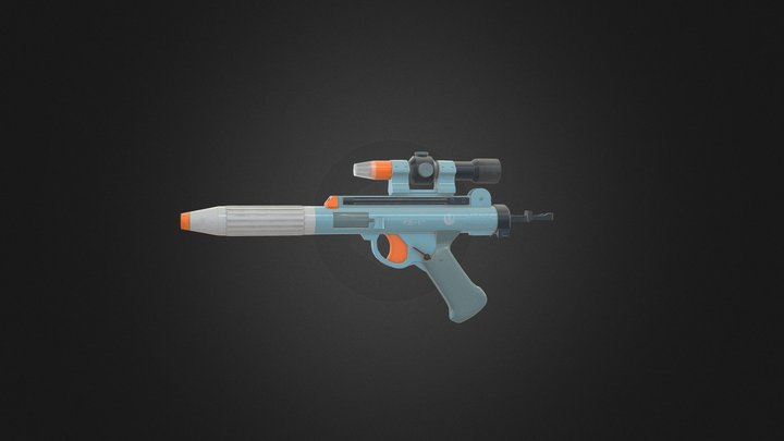 Hasbro Star Wars DH-17 Blaster 3D Model
