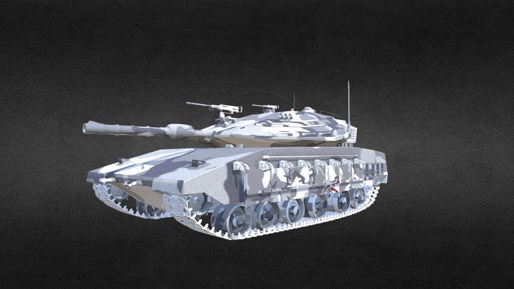 Tank_Merkava 4 3D Model