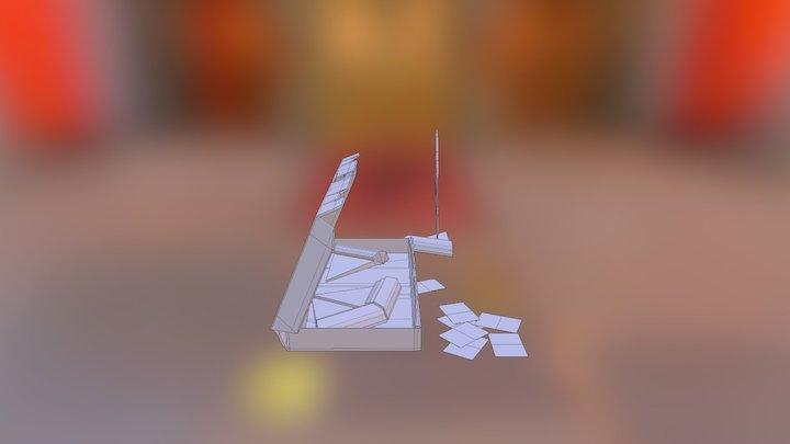 Pizza Scene Many Slices 3D Model