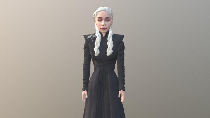 Daenerys Targaryen full color 3D printing 3D Model