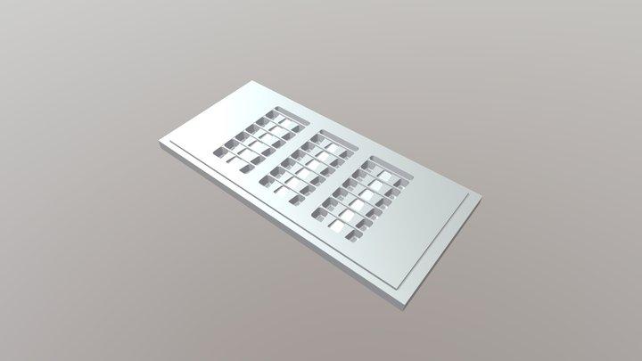 Molde FibrasFix  Charola con 18 cavidades 3D Model