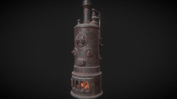 Old Boiler Rusted 3D Model