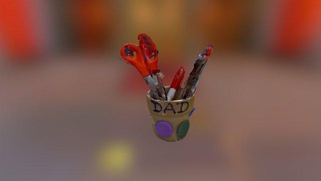 Pen Holder 3D Model