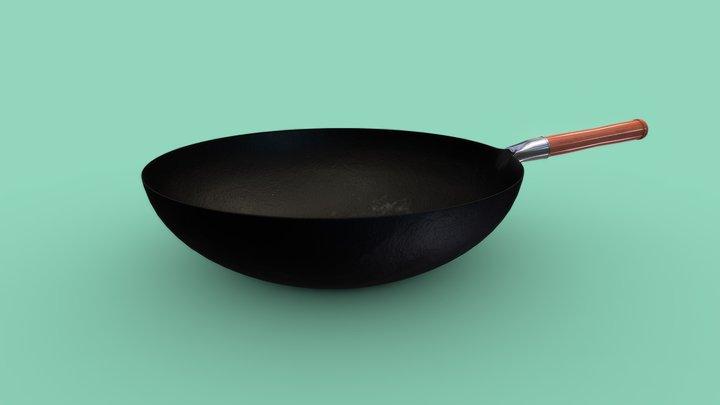 Cooking Wok 1k Textures 3D Model