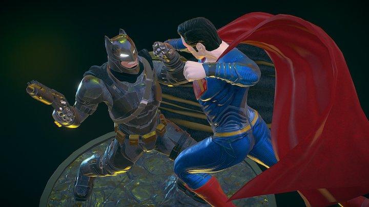 Batman v Superman_Gulf News edition 3D Model