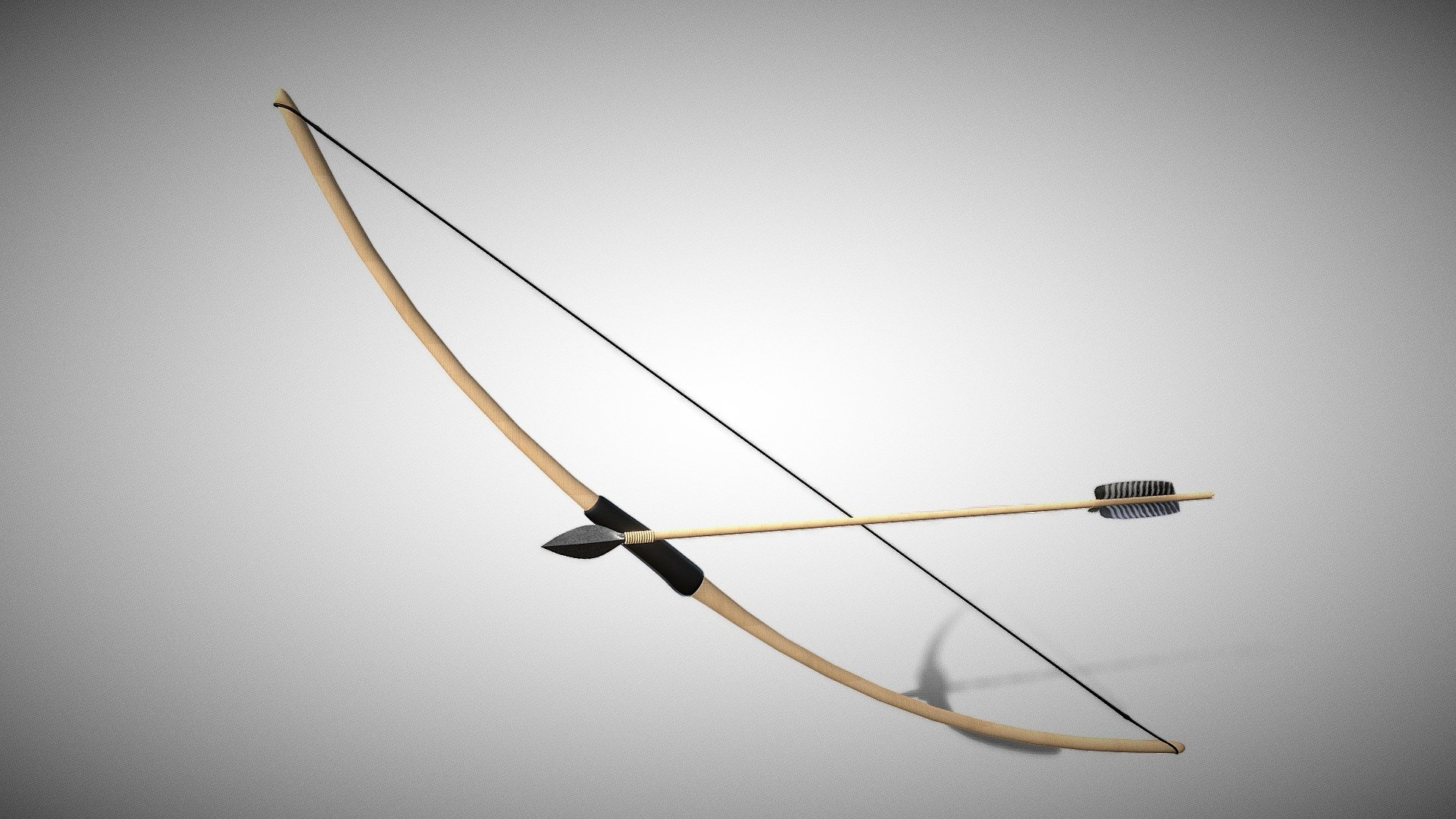 Bow And Arrow - Buy Royalty Free 3D model by Pieter Ferreira