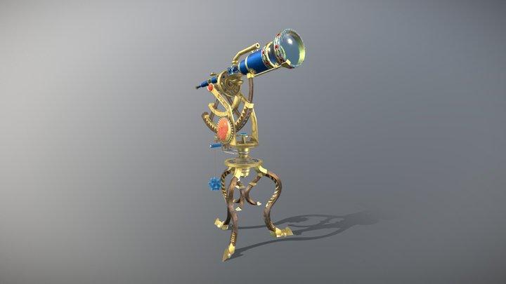 Telescope (Realistic) 3D Model