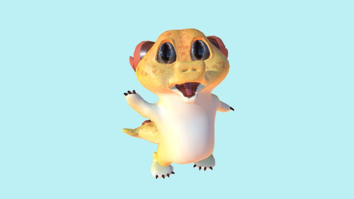 Gecko Dragon 3D Model