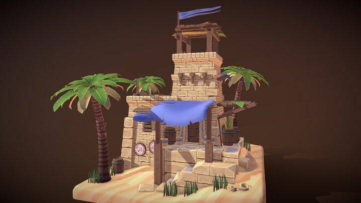 Egyptian Watchtower | Tom van Asten 3D Model