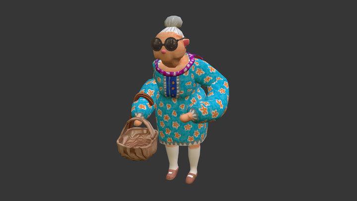 [ Luncheon the grass ] Grandma 3D Model